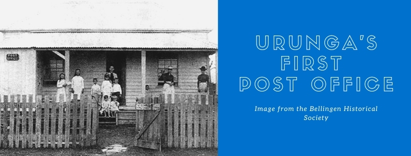 Urunga's first Post Office image from the Bellingen Valley Historical Society