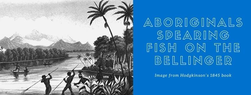 Aboriginals spearing fish on the Bellinger
