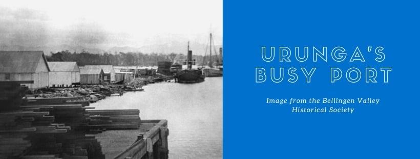 Urunga's ship port image from the Bellingen Valley Historical Society