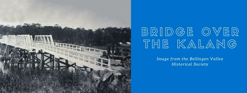 First bridge over the Kalang river image from the Bellingen Valley Historical Society