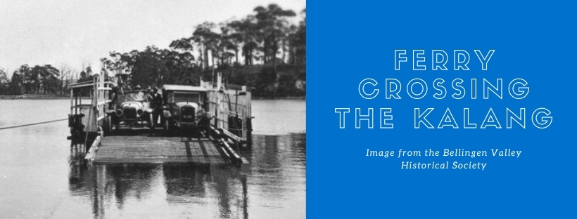 Ferry crossing the Kalang river image from the Bellingen Valley Historical Society