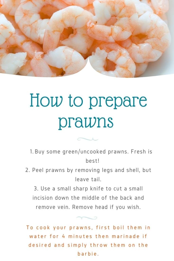 How to prepare bbq Christmas prawns