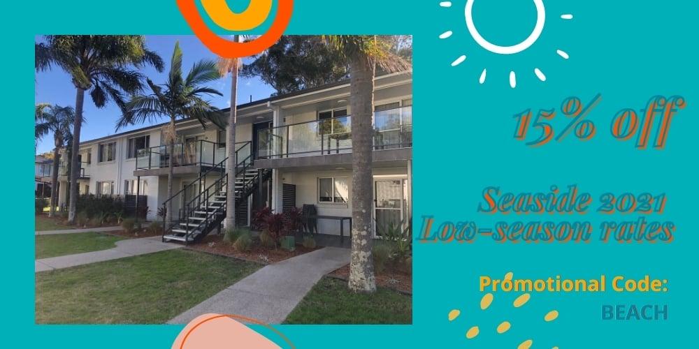 Seaside Holiday Resort Fingal Bay NSW Low-Season Sale 2021