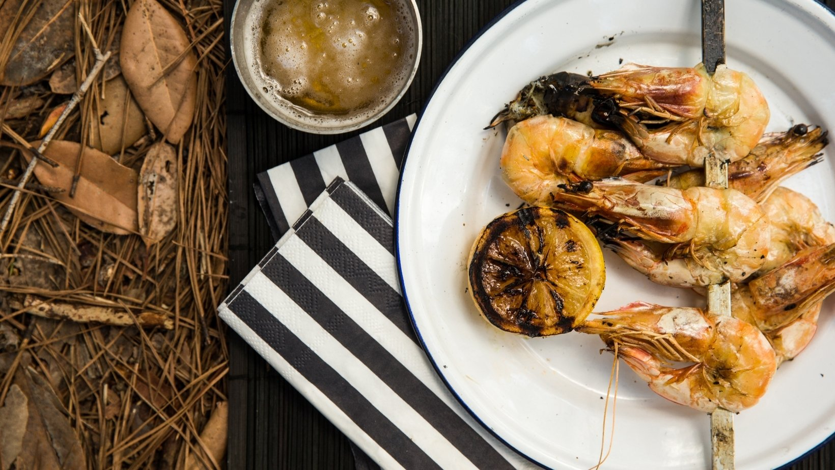 Christmas barbeque Prawns, New South Wales, Australia