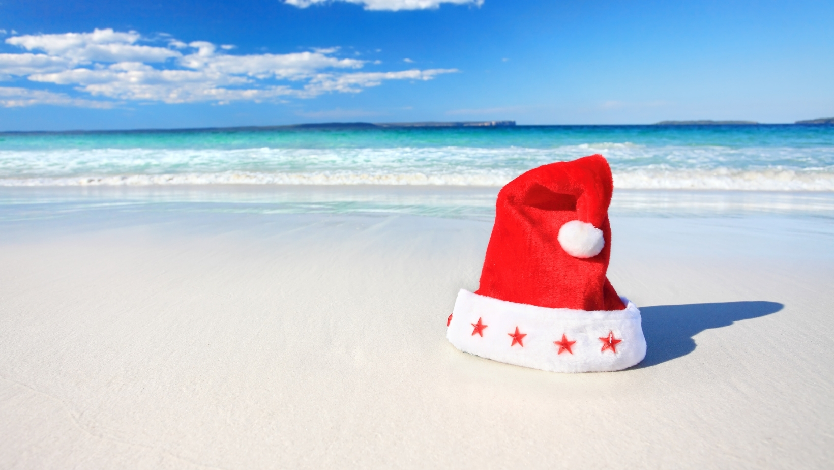 Christmas on the beach in New South Wales, Australia