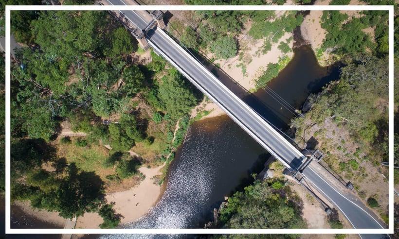 Hamden Suspension Bridge over Kangaroo River, Kangaroo Valley, Shoalhaven, NSW