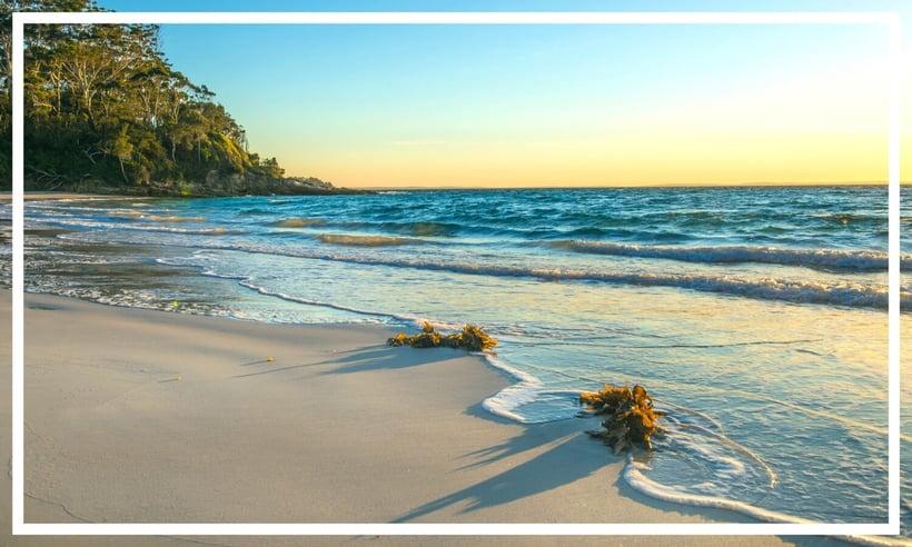Huskissons white sand beaches, NSW, Australia