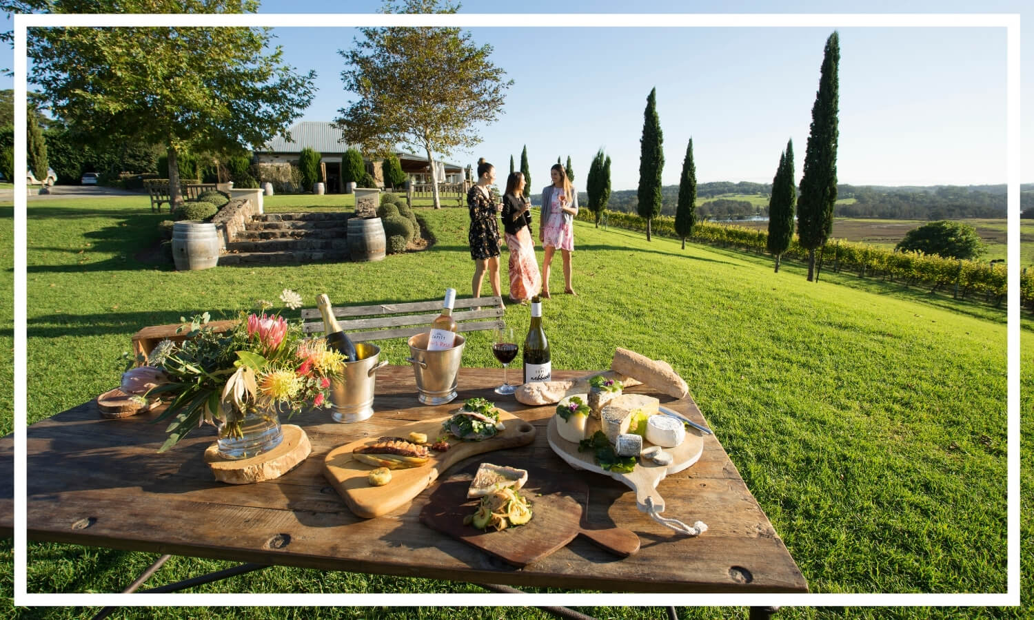 Scenic views with food and wine at Cupitts Winery, Ulladulla by Destination NSW