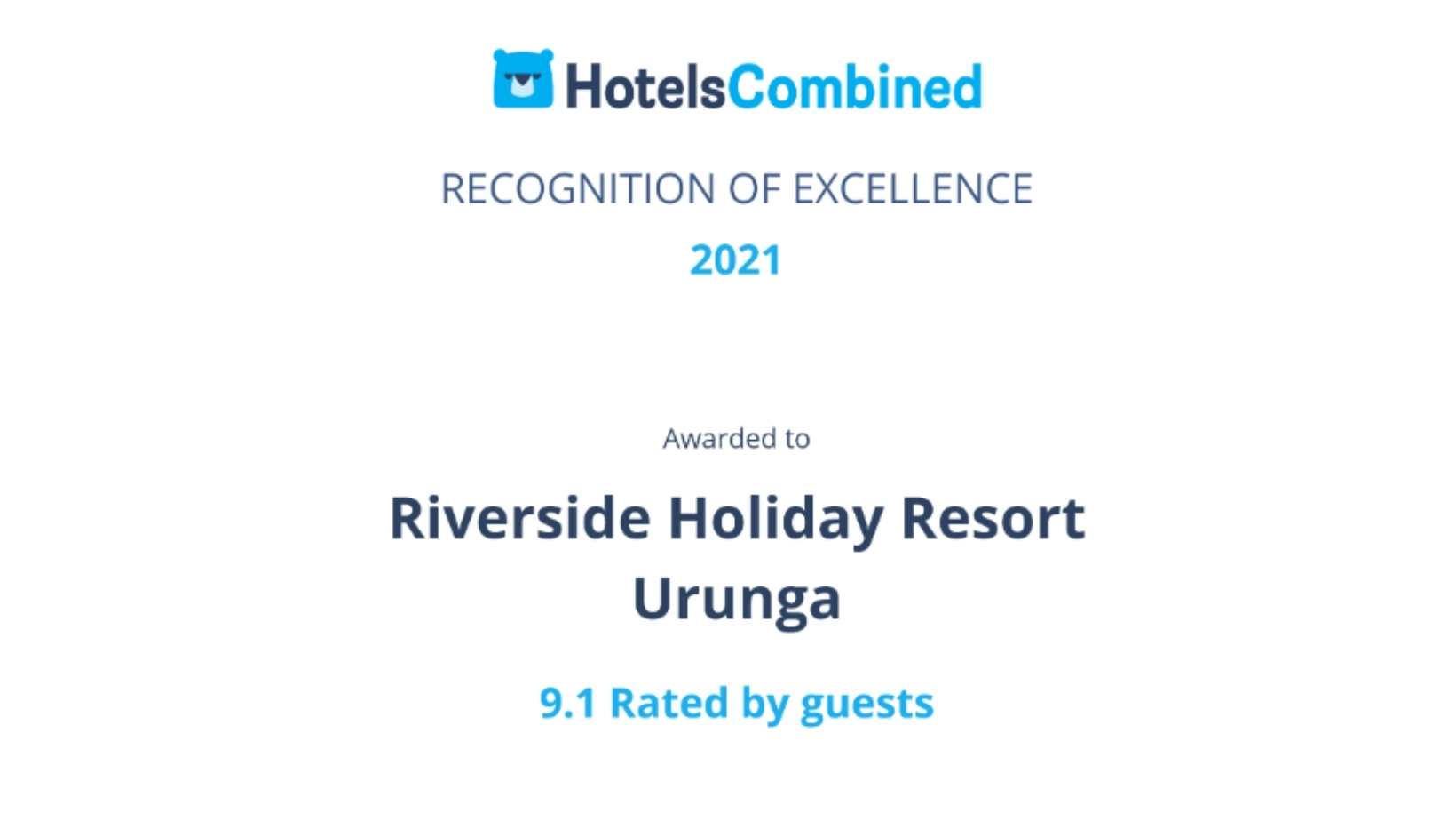 Hotels Combined Excellence Award