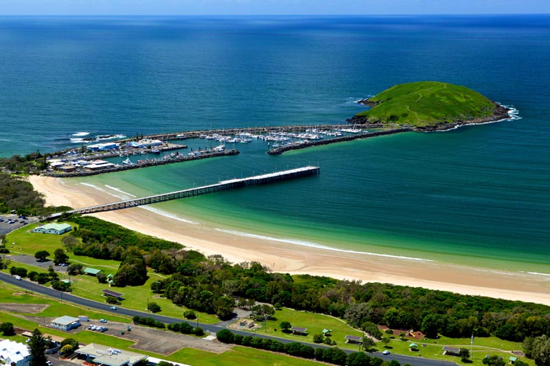 Coffs Harbour Jetty and Muttonbird Island