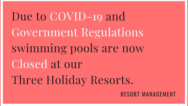 Federation pool closure sign